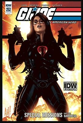 SDCC 2018 Exclusive IDW GI JOE REAL AMERICAN HERO #252 Baroness Variant Cover