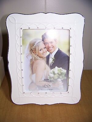 "Lenox ""Bliss"" Wedding Picture Tabletop Frame - 5x7"" Photo - New in Box - #826466"