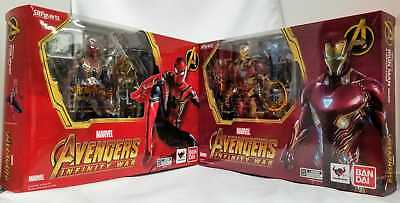 Bandai S.H Figuarts Avengers Infinity War Iron Man Mark Mk 50 & Iron Spider Set