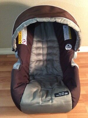 Graco Click Connect 30 35 Baby Car Seat Cover Cushion Canopy Set Brown Gray