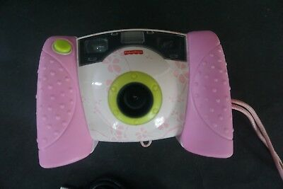 Fisher Price Digital Camera J8209 Pink Flowers Kid Tough rubber Tested & Work