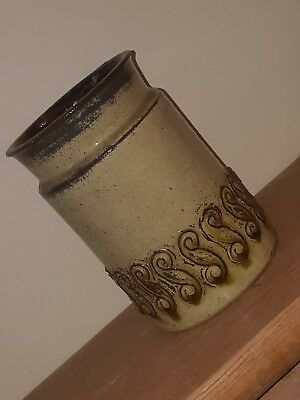 Baldelli Italy Vintage Vase Bottle Decorative Stoneware Italian Made Rustic Pot