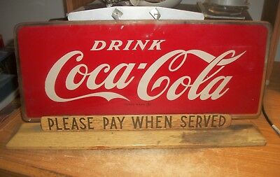 RARE Vintage Coca Cola Price Bros. Please Pay When Served .