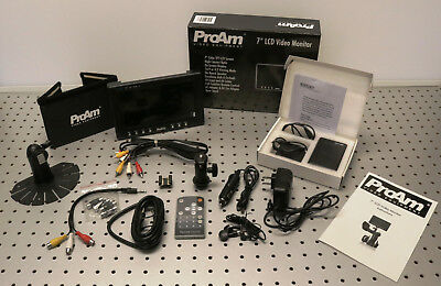 """ProAm 7"""" LCD TFT Video Monitor with Accessories"""