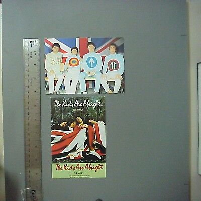 """The WHO Postcards TWO 4"""" X 6"""" Full Color One Townshend, Daltrey, Moon, Entwistle"""