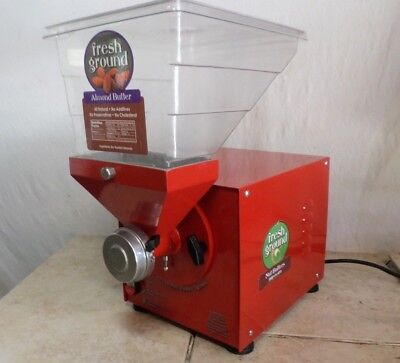 Olde Tyme PN2 Nut Grinder 2015 with Timer Peanut Butter Almond Hampton Farms RED