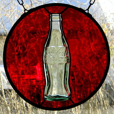 Stained Glass with Vintage Coca Cola Bottle