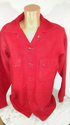 Vintage Boy Scouts of American Official Red Wool Jacket Size 44 Long