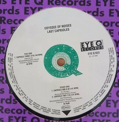 "12"" Vinyl Odyssee of Noises ""Last Caprioles"", Eye Q Records 1994, Trance, Kult"
