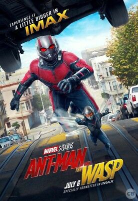 Ant Man & The Wasp IMAX 3D Movie Poster 13x19