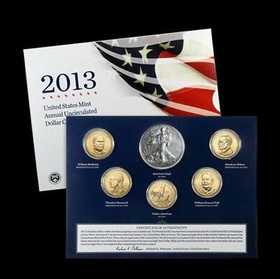 2013 U. S. Mint Annual Uncirculated Dollar Set (XA5) ~ Original Gov't Packaging
