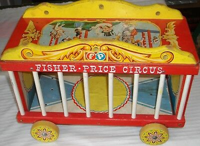 ***vintage Fisher Price Circus Playset Pull Toy***