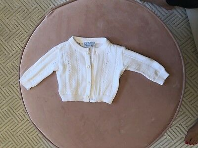 Feltman Brothers 3 Months Baby White Boy Or Girl Cardigan Sweater