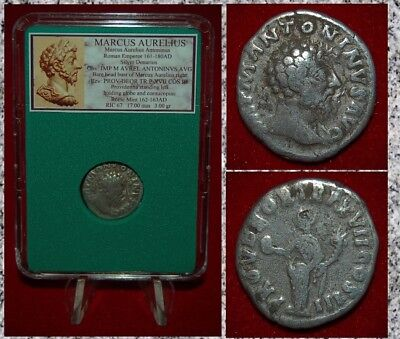Ancient Roman Empire Coin MARCUS AURELIUS Providentia On Reverse Silver Denarius