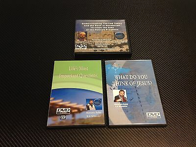 Lot of 3 Religious DVD Sets-What Do You Think of Jesus-Life's Most *Ships Free*
