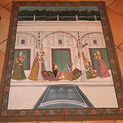 India PICHVAI Hand Painted Temple Hanging KRISHNA 33 1/2 X 45 1/2 inches