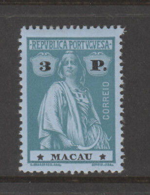 Macao Sc 236 Ceres 3P Green on Blue Mint Hinged, VF