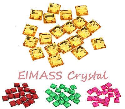 50 x Square Shape, EIMASS® Acrylic Rhinestones, Embellishment, DIY Craft