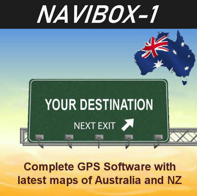 2019 GPS Software for navibox-1 (Win CE 5.0) with latest Australian and NZ maps
