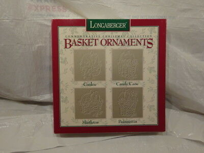 Longaberger Basket Ornaments Commemorative Christmas Collection New in Box 1995