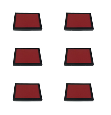 "6 Pack of 6 x 8 x 3/4"" Riker Display Cases with RED FELT for Collectibles & More"