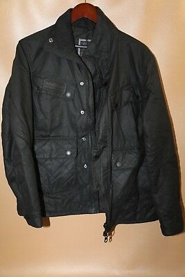 #91 Barbour International Trail Quilt Waxed Cotton Jacket Size L