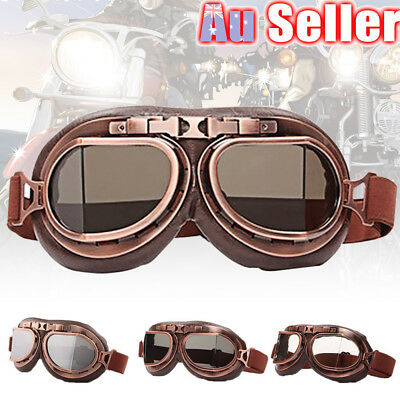 Goggles Motorbike Retro Motorcycle Pilot Aviator Helmet Glasses Flying Scooter