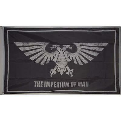 Imperium of Man Warhammer Galactic Empire Eagle Flag Banner 3x5 feet