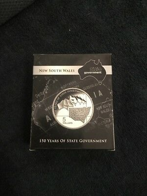 2007 - $5 Ram - New South Wales : 150 Years Of State Government - Silver Proof
