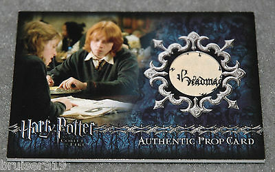 Harry Potter GOBLET of FIRE Prop Card 429/455 DAILY PROPHET Material Ci3 Artbox