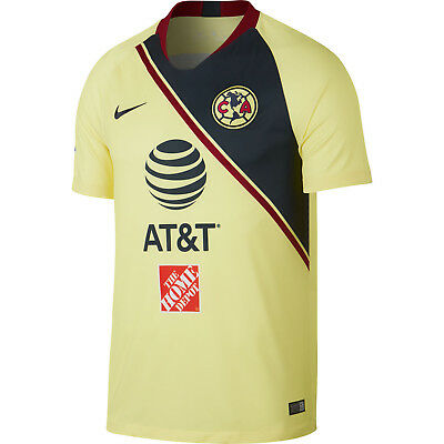 de96a2e1867 Nike Club America DF 2018 - 2019 Home Soccer Jersey New Yellow   Navy   Red