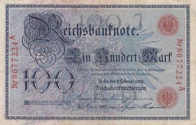 1908 Germany 100 Mark Note, Pick 33