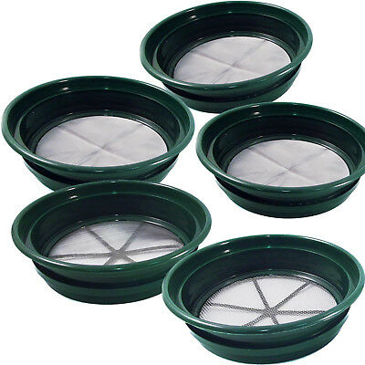 5pc ASR Outdoor Complete Gold Rush Sifting Classifier Sieve Set for Prospecting