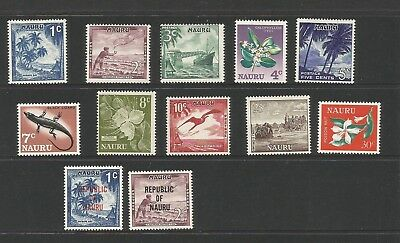 A2/64  SELECTION of NAURU  STAMPS MINT/ MUH