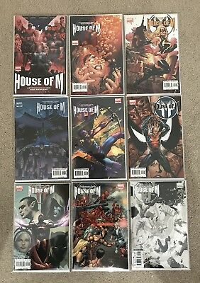 X-Men 'House Of M' Complete Variant Set - 9 Comics - Nm/mt - No Reserve