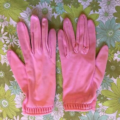 Vintage GLOVES evening 1950s 1960s ladies accessory Size pair of Pink