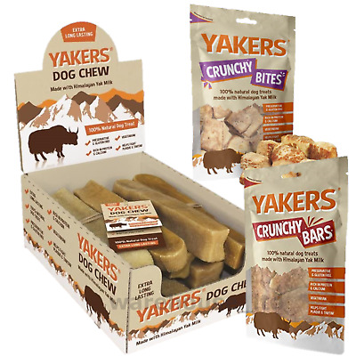 Yakers Natural Yaks Milk Healthy Extra Long Lasting Hard Dog Puppy Chew 3 Sizes