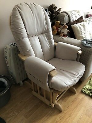 Tutti Bambini Gliding Nursing Chair And Stool Reclining Feeding