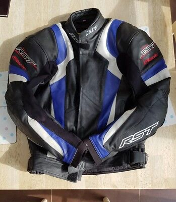 Rst Blade 2 Leather Motorcycle Jacket Size 42  - w Armour And Waterproof Lining