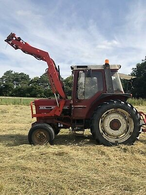 international 885xl Tractor & Loader Joystick Control 40k Good Tractor No Vat