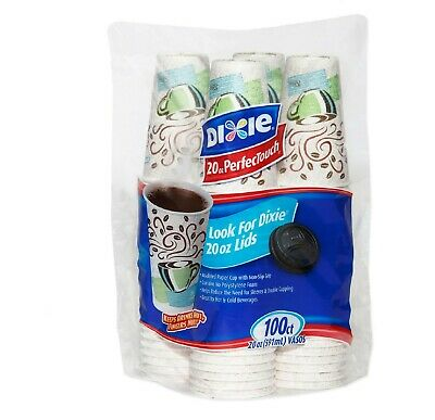 Dixie Touch Insulated Paper Cups,Coffee Haze, 20 oz(100 ct) (Lids Not Included)