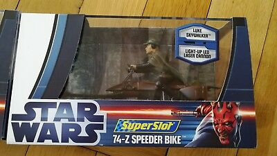 STAR WARS Superslot Scalextric LUKE Skywalker 74 Z Speeder Bike 1:32 NEU OVP