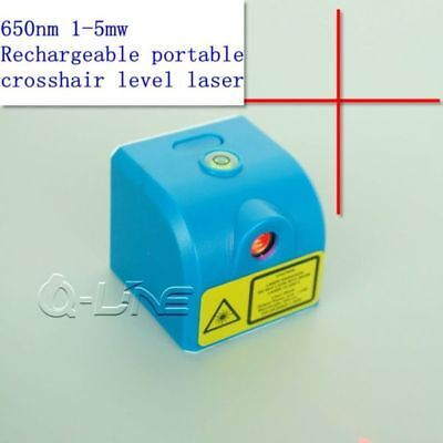 650nm 1mw-5mw Red Cross Laser Module 3.7V w/ USB & Rechargeable Crosshair Level