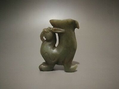 Antique Chinese Exquisite Hand-Carved Jade Nephrite Status --- The Ancient Bird
