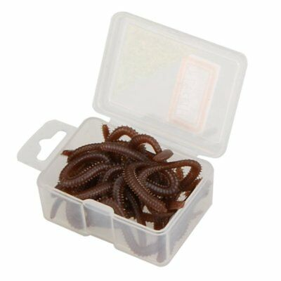 17pcs 10cm Soft Simulation Worms Artificial Fishing Lures Lifelike Tackle B N3Z2
