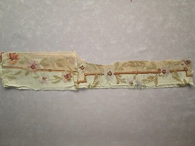A 19thc Aubusson silk tapestry fragment in pastel colours