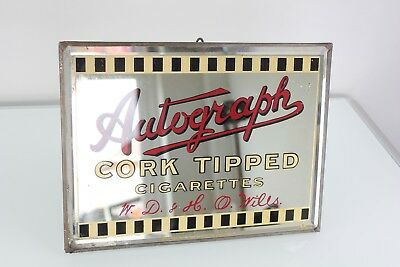 1920s wills autograph advertising mirror
