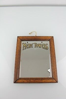 1900s mene sanitary advertising mirror