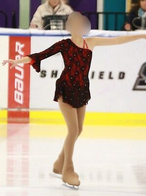 Spanish style skating competition dress (Childs Large)