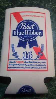 Pabst Blue Ribbon PBR Beer Koozie 16 oz Tall Can Cooler Coozie - New
